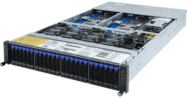 GIGABYTE H262-Z61 2U 4 Node Server